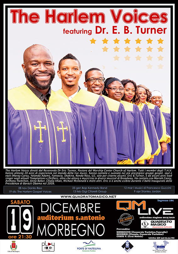 The Harlem Voices, 19 dic a Morbegno